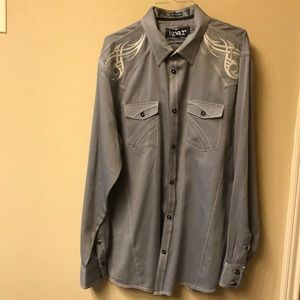 Roar button up men's shirt